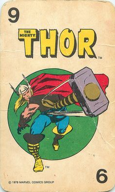 Thor in Collectibles Comic Book Characters, Marvel Characters, Comic Books Art, Marvel Comics Superheroes, Marvel Heroes, Thor Marvel, Captain Marvel, D Mark, Marvel Cards
