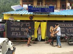 This restaurant in Kasol is called 'Free Kasol'. The freak asshole who runs it refuses to serve Indians.
