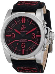 Wrist Armor Men's WA105 C1 Stainless Steel Analog Display Swiss Quartz Watch with Black Canvas Strap by Wrist Armor -- Awesome products selected by Anna Churchill