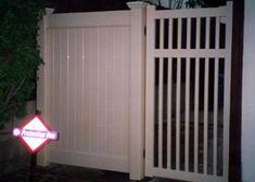 Privacy and Picket Gates Vinyl Gates, Outdoor Decor, Open, Garage Doors, Frame, Home Decor, Picket Gate, Vinyl, Steel Frame
