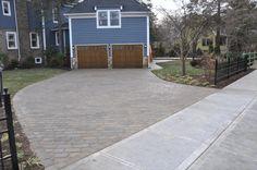 techo bloc paver driveway by landscape solutions