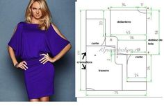 Discussion on LiveInternet - Russian Online Diaries Service Dress Sewing Patterns, Sewing Patterns Free, Clothing Patterns, Free Sewing, Sewing Tips, Diy Clothing, Sewing Clothes, Fashion Sewing, Diy Fashion
