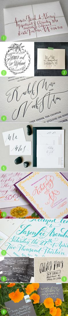 Top 10: Calligraphy | 3 - Brooklyn Bride - Modern Wedding Blog