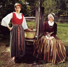 Hello All, Today I am continueing the series on Latvia, I will look at the costume of the Province of Zemgale [Semigalia]. The Semigalians. Folk Costume, Costumes, Baltic Region, Folk Clothing, Beautiful Person, Traditional Outfits, Culture, Embroidery, Inspiration