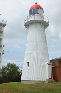 Old Caloundra Lighthouse in Caloundra, Queensland, Australia. It is the oldest surviving building in Caloundra. It was built in 1896 and automated in 1968. It stands 39 feet tall and had a fourth order Chance Brothers dioptric lens. This lighthouse was moved twice and is now back in it's original site.