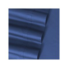 Solid 500-Thread Count Egyptian Cotton Sateen Deep-Pocket Sheets, Blue Cal King