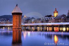 Lucerne skyline in winter, Switzerland by Mihai-bogdan Lazar, via Dreamstime