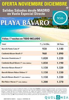 Oferta Noviembre Diciembre Playa Bávaro desde 790€ Tax incluidas. - http://zocotours.com/oferta-noviembre-diciembre-playa-bavaro-desde-790e-tax-incluidas/