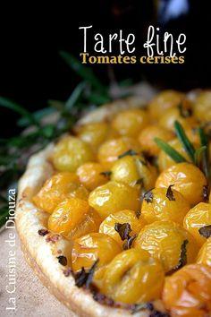 Tarte fine moutarde tomates basilic Chana Masala, Entrees, Buffet, Vegan Recipes, Cooking, Ethnic Recipes, Quiches, Food, Pizza