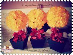 TOPIARIA DIY- faça você mesmo ''Centro de Mesa'' #Preparativos #1aninho ...