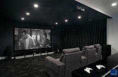 Game Changer modern media room