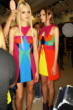 Versus multicolor dress, Spring-Summer 2011. Photograph by Sonny Vandevelde