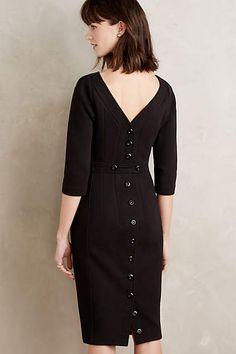 Buttoned Twill Dress
