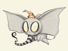Tim Burton Dumbo concept by Dennis Cornetta