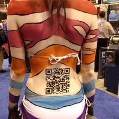 Una llamativa forma de hacer publicidad, ¡Códigos QR en Body Paint!