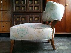 mid century slipper chair -