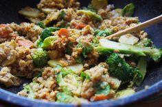 Zeleninové kari quinotto Tempeh, Fried Rice, Quinoa, Fries, Ethnic Recipes, Nasi Goreng, Stir Fry Rice
