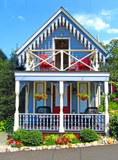 gingerbread houses, Martha's Vineyard