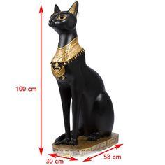 """Статуэтка """"Египетская кошка"""" высотой 1 метр - это отличный, солидный подарок. Материал: Полистоун Ширина: 30 см Высота: 100 см Длина: 58 см"""