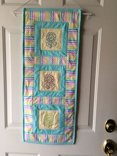 Wall hanging/Door Decoration, Spring Flowers by mommomsquilts on Etsy