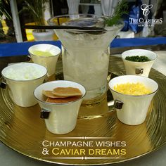 French blini, crème fraiche and more! What is your favourite accompaniment with Caviar?