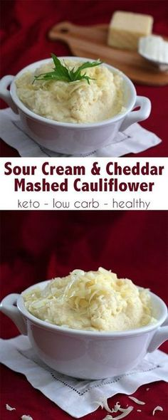 Liz Harris saved to Keto low carb Sour Cream and Cheddar Mashed Cauliflower. This is so creamy and rich, it's the best keto side dish! Best Cauliflower Recipe, Keto Mashed Cauliflower, Califlower Recipes, Cauliflower Low Carb Recipes, Cauliflower Side Dish, Keto Foods, Ketogenic Recipes, Keto Recipes, Best Keto Meals