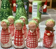 Filling orders as fast as I can....Apron Girls and Red Bird Trees....xo