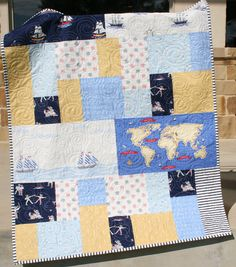 Nautical Boy Quilt Baby Blanket Toddler by SunnysideDesigns2, $159.00