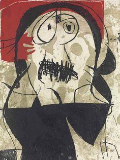 Joan Miró (1893-1983) was een Spaans kunstschilder, beeldhouwer, graficus en keramist, afkomstig uit Catalonië. Hij wordt gezien als een van de grootste surrealisten. Joan Miró wordt naast Picasso en Dalí beschouwd als een van de grote drie van de Spaanse 20ste-eeuwse moderne kunst.