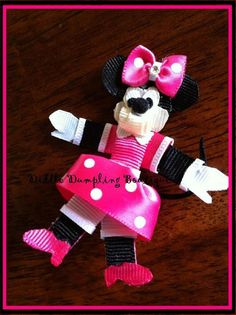 Full Body Minnie Mouse Ribbon Sculpture in by DiddleDumplingBows, $8.00