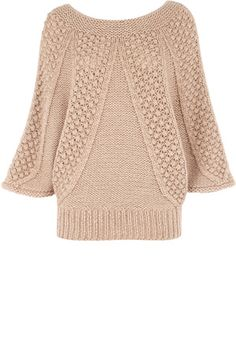 Oasis knit raglan dolman sweater jumper (odd link to Club Osinka, Russian? discussion forum about sweaters with photos)