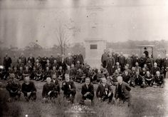 Veterans of the 151st gathered at Gettysburg to dedicate a monument to their unit in September 12, 1889.  (image courtesy of Michael Waricher)