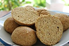 Flaxseed psyllium husk bread rolls that look like proper bread too!  High in fibre, low in carbs & gluten free they are a great healthy bread roll.