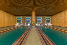 These German Bowling Alleys Deserve a Cameo in a Wes Anderson Movie Wes Anderson Films, Accidental Wes Anderson, Wes Anderson Style, Design Set, Bowling, Les Muppets, Location Scout, Colossal Art, Mellow Yellow