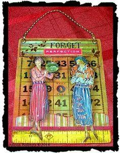 Gouache Paint Tutorial (Altered Bingo Card) By Aileen Roberts