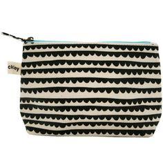 lisa stickley : valerie makeup bag, round collar charcoal