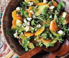 Avocado and Tangerine Salad with Jalapeño Vinaigrette | Epicurious.com