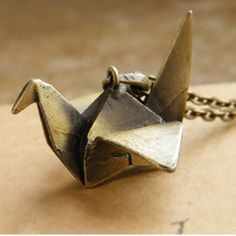 Sweet Retro Style Paper Crane Shape Embellished Women's Sweater Chain Necklace, AS THE PICTURE in Necklaces | DressLily.com