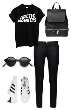 """Backpack & chill"" by klara-gizova on Polyvore featuring Armani Jeans, COSTUME NATIONAL, women's clothing, women's fashion, women, female, woman, misses and juniors"
