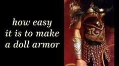 how to make a doll armor
