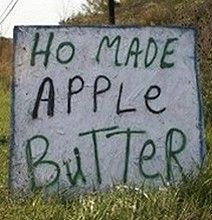 """Hmm. Do you think they always thought everything """"homemade"""" was """"ho made""""?"""