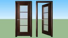 3D Model of Door Modern Wood