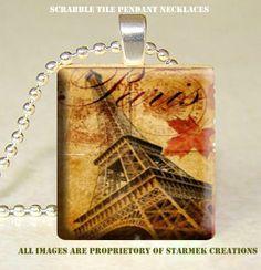 scrabble tile pendant,