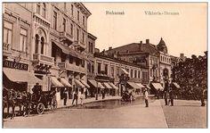 Bucuresti - Calea Victoriei la piata teatrului - inceput de secol