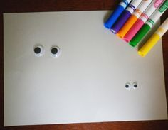 DIY for kids: Wiggly Eye Drawing Starter by House of Baby Piranha, http://www.houseofbabypiranha.com/2012/07/wiggly-eye-drawing-starter.html