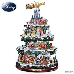 Over 50 of your favorite Disney friends, including Mickey, Cinderella, Pooh and more! 10 scenes, 20 LED lights, 4 tiers of movement and music.