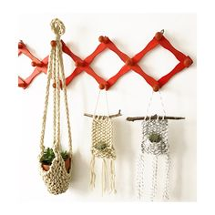 all the plants ... Hand knit hanging planters available at HUXEN & Co. on Etsy
