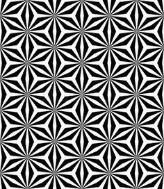 Op art seamless geometric pattern stock vector