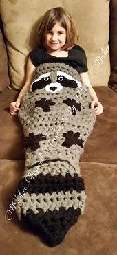 Ravelry: Woodland Raccoon Cozy Cocoon pattern by Beth Decker