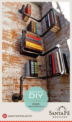DIY PROJECT - Pipe Bookshelf
